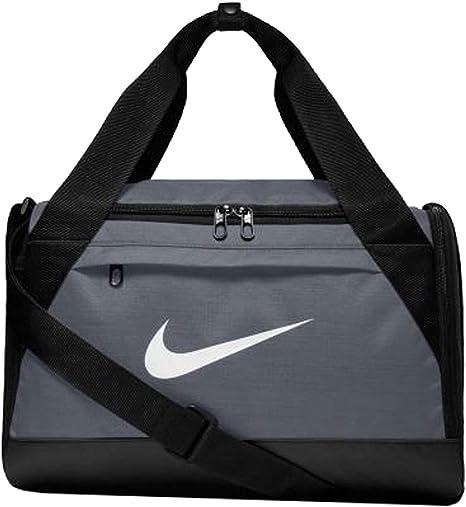 "Amazon.com: Nike Brasilia Training Duffel Bag, XS - Flint Grey/ Black/ White, 16"" x 9"" x 10"""