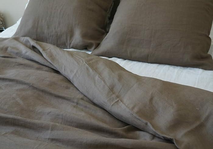 Cedar Linen Duvet Cover, Dark Brown Bedding, Custom Bedding, Linen Bedding,  Queen