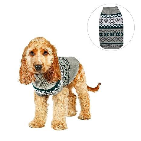 Sudadera para mascota con diseño de hojas para perros y gatos de tamaño pequeño, para