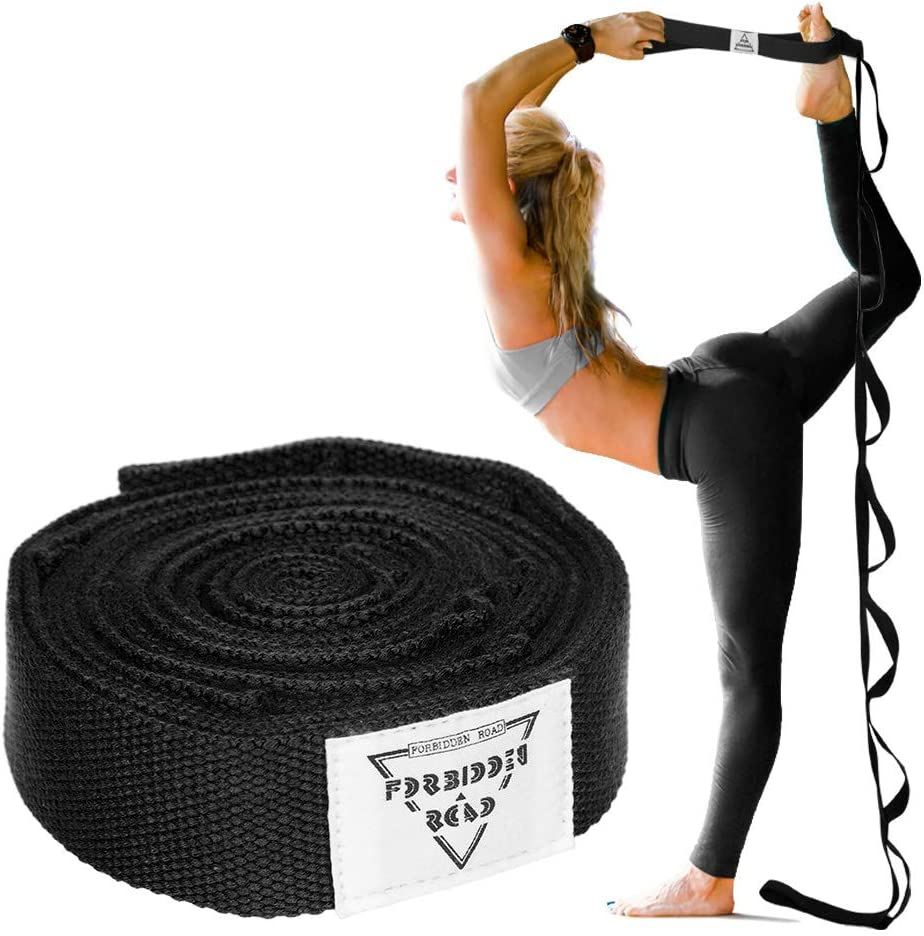 Pilates Elastic Stretch Bands for Exercise F Fityle Yoga Strap Dance and Gymnastics Stretch Strap with Multi Loops Physical