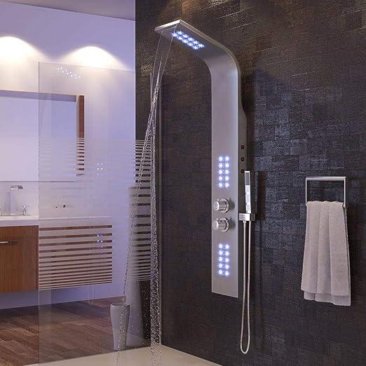 LIUCHEN@ - Grifo de Ducha para baño con luz LED, Cascada, Cascada ...