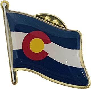 product image for Colorado Single Waving State Flag Lapel Pin - Made in The USA
