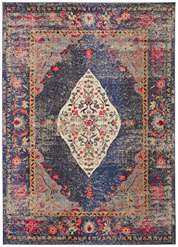 (Rivet Distressed Color Medallion Area Rug, 5' 3