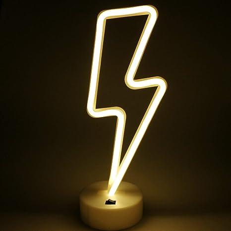 Lightning Bolt Neon Signs, Creative LED Lightning Decor Light Neon ...