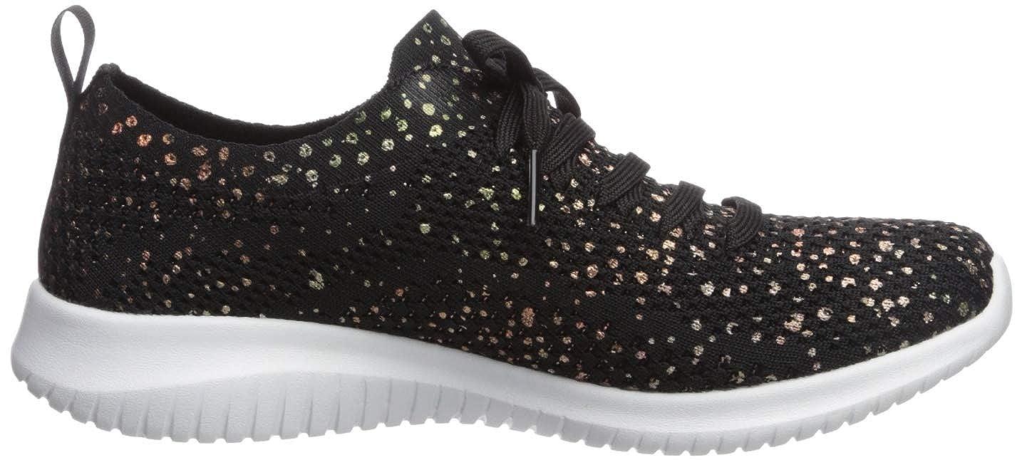 Skechers Damen Ultra Flex-Strolling Out Sneaker, Ros Blackgold