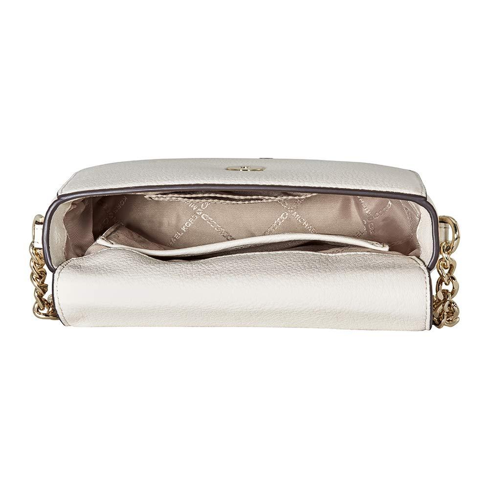 c0677e9bf1a6 Michael Kors Mott Pebbled Leather Crossbody- LT Cream: Handbags: Amazon.com