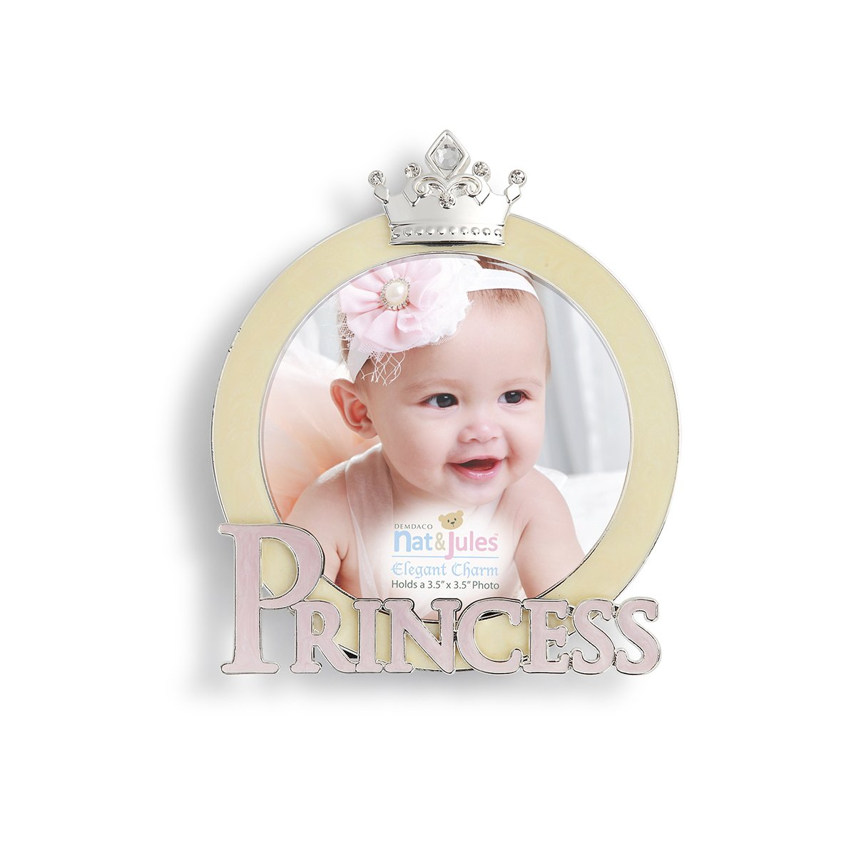 DEMDACO Always a Princess 6 x 8 Enamel with Metal and Rhinestone Accents Picture Frame