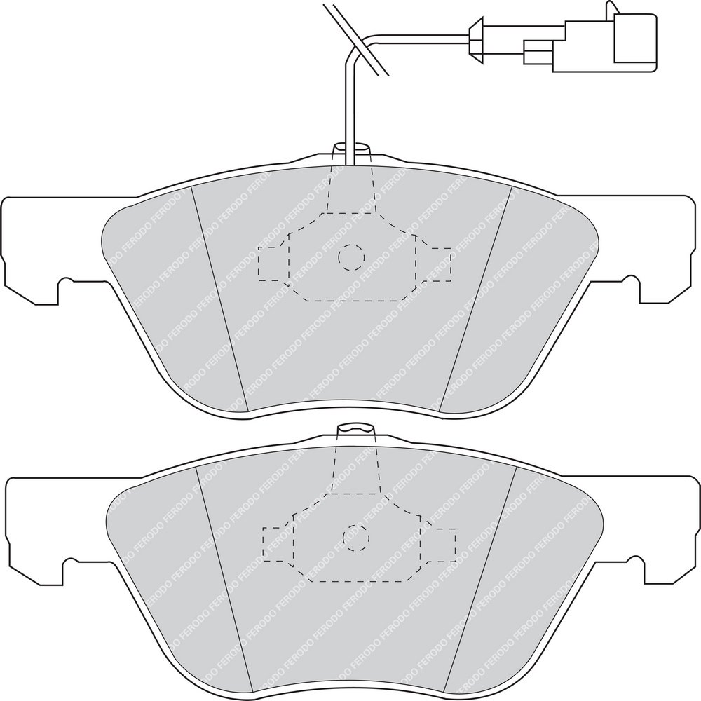 confezione 4 pezzi Premier Kit Pastiglie Freno Freno A Disco - Ferodo FDB1052