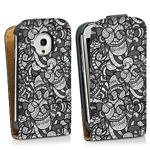 Diseño para Samsung Galaxy S3 Mini I8190 DesignTasche Downflip black - Ethno Circles - Black Mood