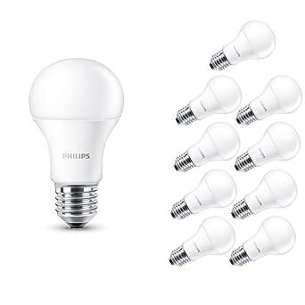 Philips 5060377882413 - Pack de 10 bombillas LED, luz blanca cálida de goma para ordenador
