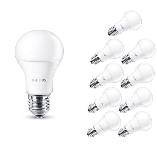 413 opinioni per Philips Lampadina LED, Attacco E27, 14 W Equivalente a 100 W, 230 V, 10 Pezzi