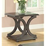 Coaster Home Furnishings 703147 Casual End Table, Cappuccino