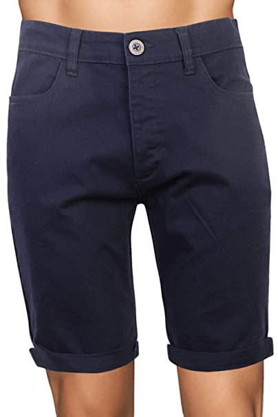 Crosshatch Mens Fastrack Or Brandons Cotton Knee Length Roll Up Chino Shorts
