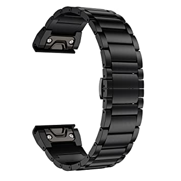 Ldfas Fenix 5x Plus Band Titanium Metal Quick Release Easy Fit 26mm