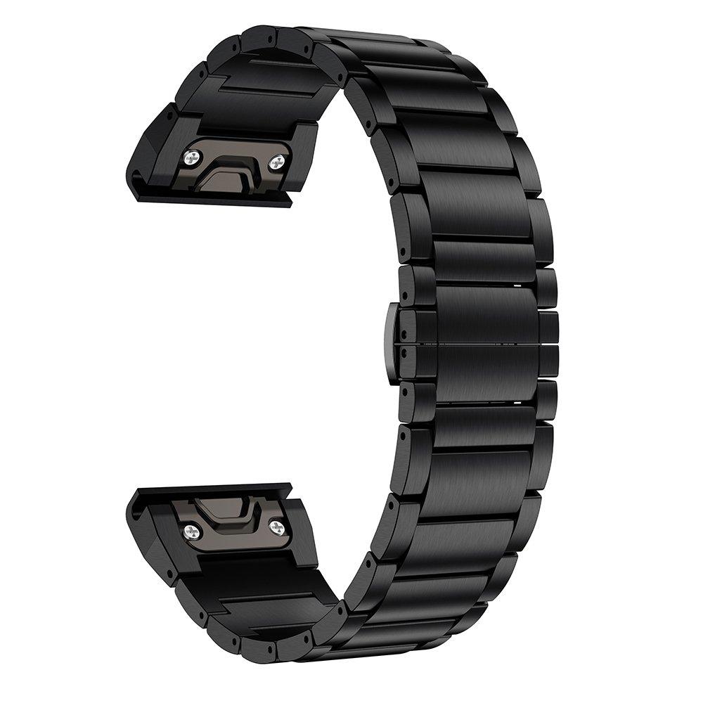 LDFAS Fenix 6X/5X Plus Band, Titanium Metal Quick Fit 26mm Watch Bands Compatible for Garmin Fenix 6X/6X Pro/5X/5X Plus…