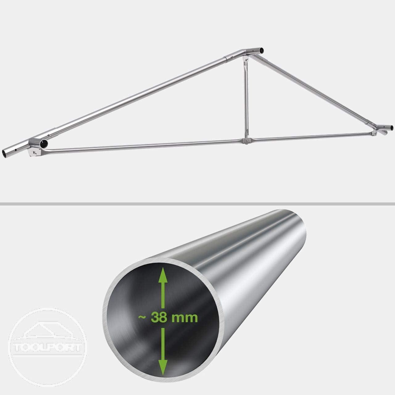 TOOLPORT Festzelt Partyzelt 3x4 m Premium hochwertige ca 500g//m/² PVC Plane in dunkelgr/ün 100/% wasserdicht mit Bodenrahmen