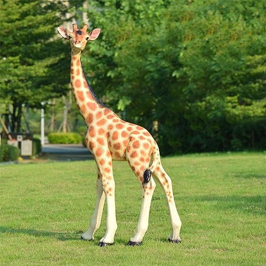 YUESFZ Esculturas estatuas de jardín Jardín Al Aire Libre Escultura De Acero De Vidrio Grande Simulación De Jardín Jirafa Decoración Estatuas De Animales En El Centro Comercial De Jardín De Infantes: Amazon.es: