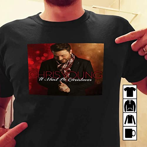 chris young t shirt it must be christmas vinyl cover t shirt