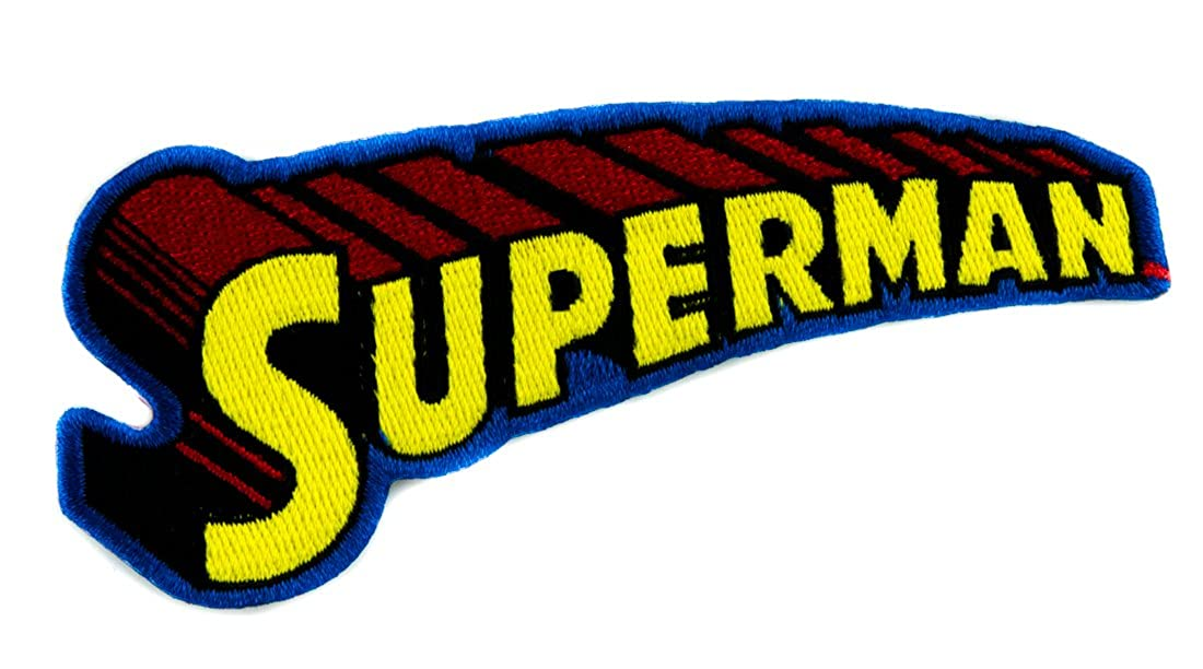 Superman 3D Logo Patch Iron on Applique Superhero Alternative Clothing DC Comics