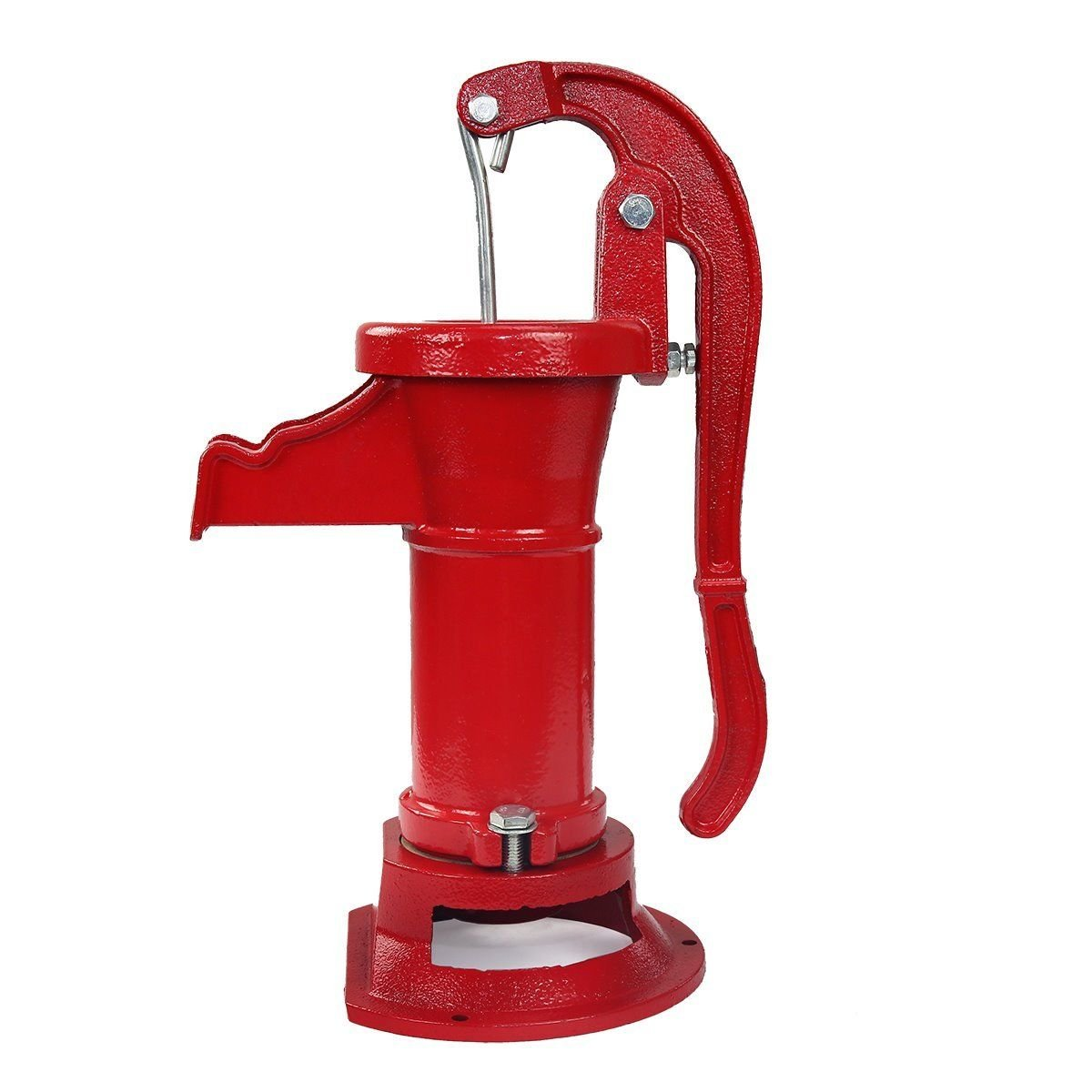 COLIBROX--New Antique Style Heavy Duty Cast Iron Red Well Hand Operated Pitcher Pump 25 Ft. Designed for rugged long life service All parts are made from close grain cast iron for optimum strength. by COLIBROX (Image #4)