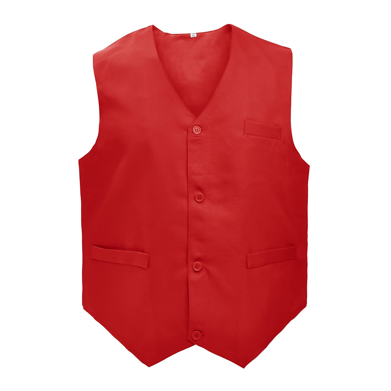 TopTie Waiter Bartender Uniform Unisex Button Vest Volunteer Vest VESX-DK60030