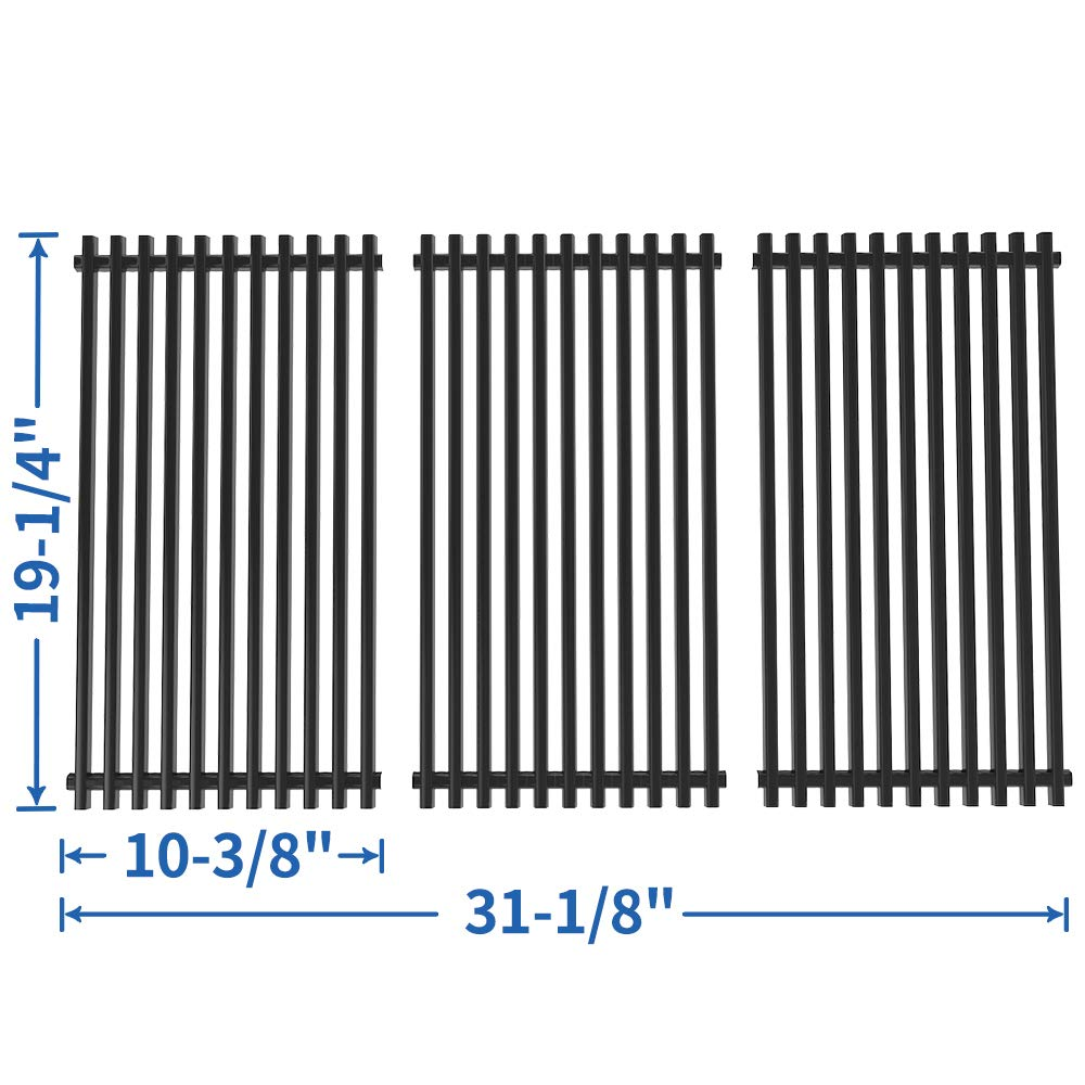 SHINESTAR 19 x 31 inch Grill Grates Replacement for Charmglow 720-0396, 720-0536, 19 inch Grates for Brinkmann 810-8501-S 810-8502-S, Jenn Air 720-0337, Members Mark, Kenmore Elite (SS-KW003) by SHINESTAR