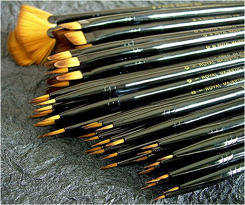Royal Langnickel Premier Artist Brush Collection- Box of 72 Majestic Watercolor Brushes