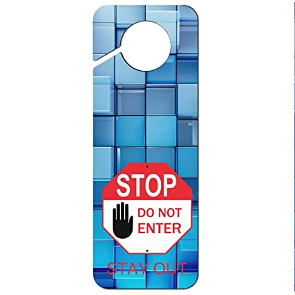 Please Keep Door Closed Plastic Door Knob Hanger Sign
