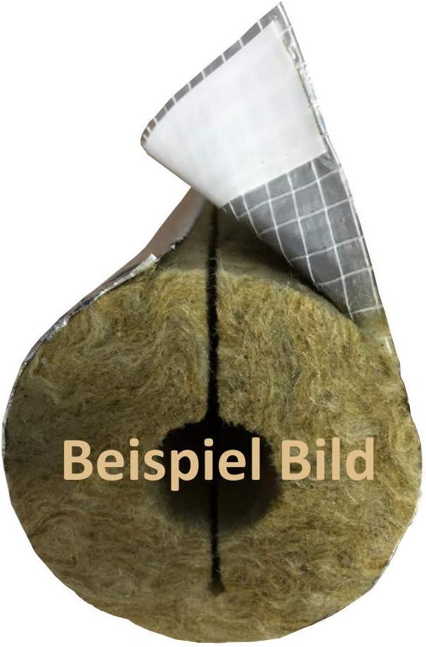 Steinwolle Rohrisolierung Rohrschale alukaschiert Rohrisolation EnEV 50mmx50m Klebe