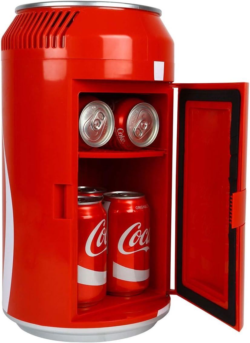Coca Cola Portátil 8 Latas Mini Refrigerador Termoeléctrico 5 4 L 5 7 Cuartos De Capacidad 12 V Dc 110 V Ac Refrigerador Para El Hogar Den Dormitorio Cabaña Cerveza Bebidas Aperitivos Cuidado De La Piel