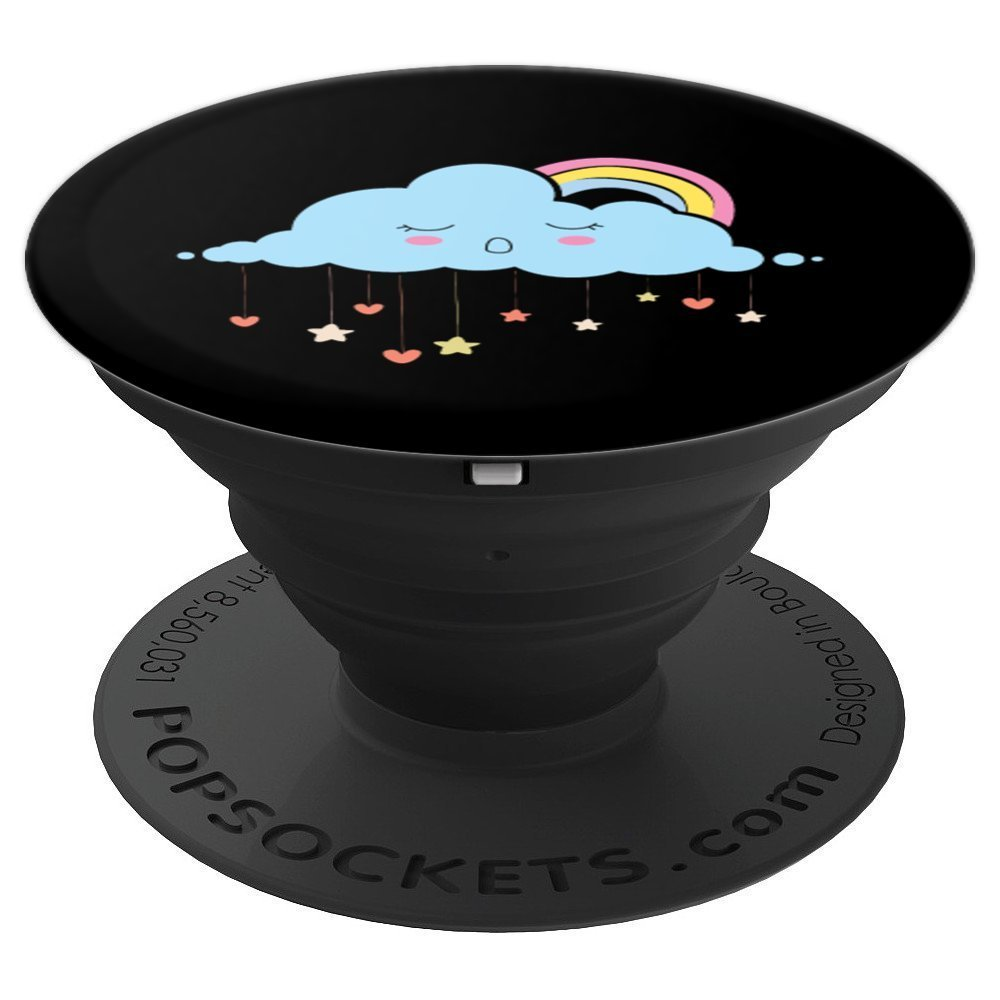 Cloud Sunny Sky Rainbow Clouding IT Computing - PopSockets Grip and Stand for Phones and Tablets by UAB KIDKIS