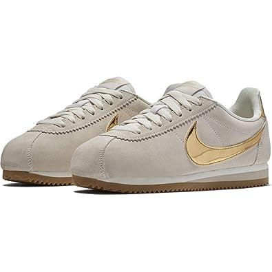 on sale 7b234 b48a3 Nike Womens WMNS Classic Cortez Se Gymnastics Shoes, Grey (PhantomMetallic  Gold