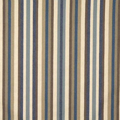 Denim Beige and Brown Stripe Denim Upholstery Fabric by the yard (Stripe Fabric Denim)