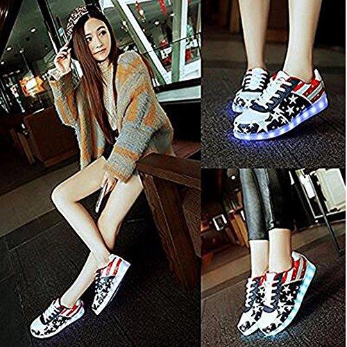 Luckfugui Little Big Kid boy girl USB Flashing LED Shoes Sneaker BK33