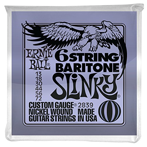 Ernie Ball Baritone Guitar Nickel Wound Set, .013 -.072