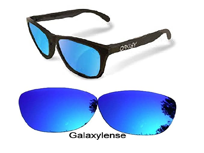 da6b2948db8cb Image Unavailable. Image not available for. Color  Galaxy Replacement Lenses  For Oakley Frogskins Ice Blue Color Polarized