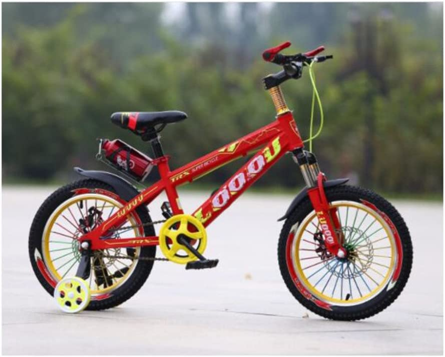 QXMEI Bicicleta Niños 3-6-9-12 Años De Edad Niño Freno De Disco ...