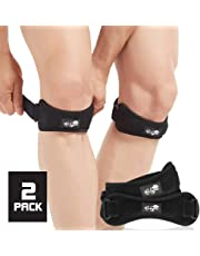 Patella Tendon Knee Strap 2 Pack, Knee Pain Relief Support Brace for Hiking, Soccer, Basketball, Running, Jumpers Knee, Tennis, Tendonitis, Volleyball & Squats