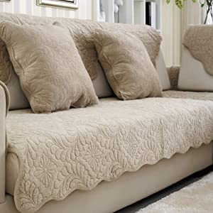 Premium Thicken Stains Resistant Couch Slipcover,Quilted Anti-Slip Velvet Sofa Cover,Furniture Protector for Pets