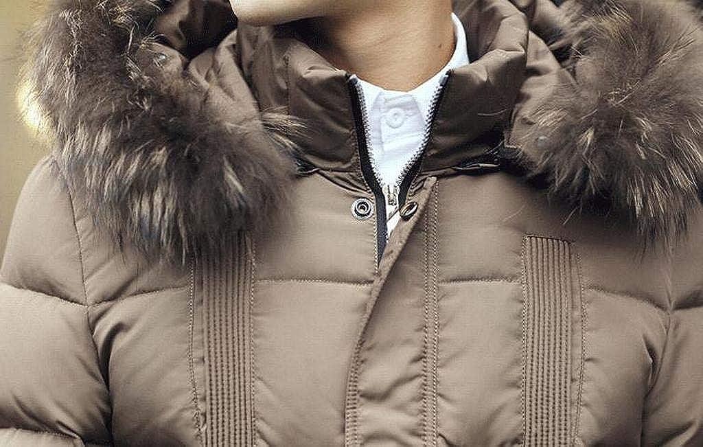 XTX Men Slim Warm Winter Hooded Down Quilted Jacket Coat Parka