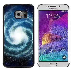 FECELL CITY // Duro Aluminio Pegatina PC Caso decorativo Funda Carcasa de Protección para Samsung Galaxy S6 EDGE SM-G925 // Milky Way Universe Space Stars