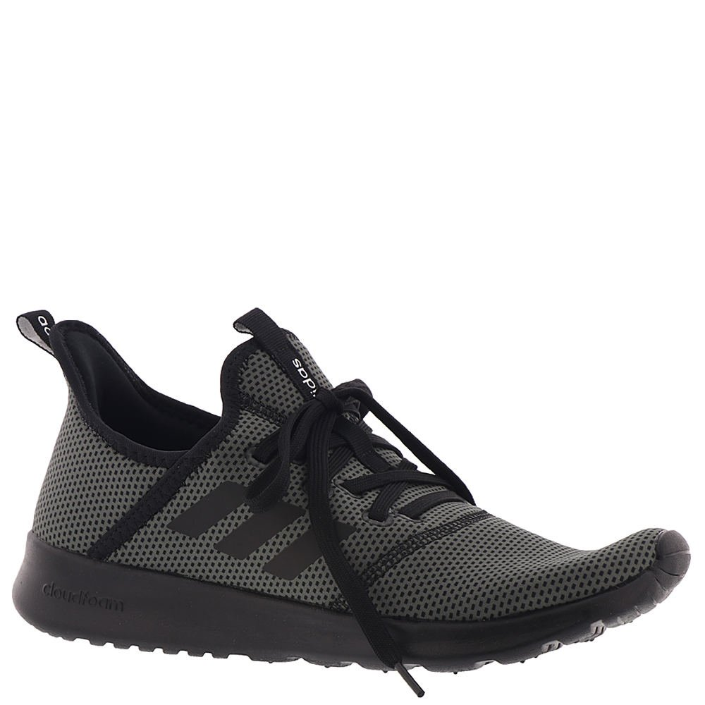 adidas Women's Cloudfoam Pure Running Shoe B077XFPJ7R 10 M US|Black/Black/Grey