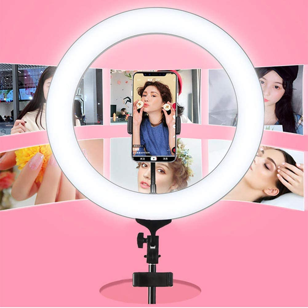 YAYONG 18 Inch Led Self-Timer Fill Light HD Beauty Tender Skinny Face Photo Artifact Artifact Anchor Live Bracket