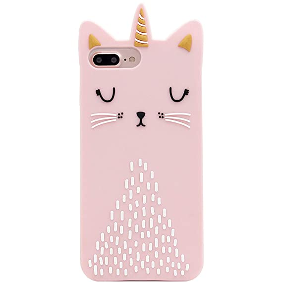 amazon com artbling cat unicorn case for iphone 6 plus 6s plusartbling cat unicorn case for iphone 6 plus 6s plus silicone 3d cartoon animal