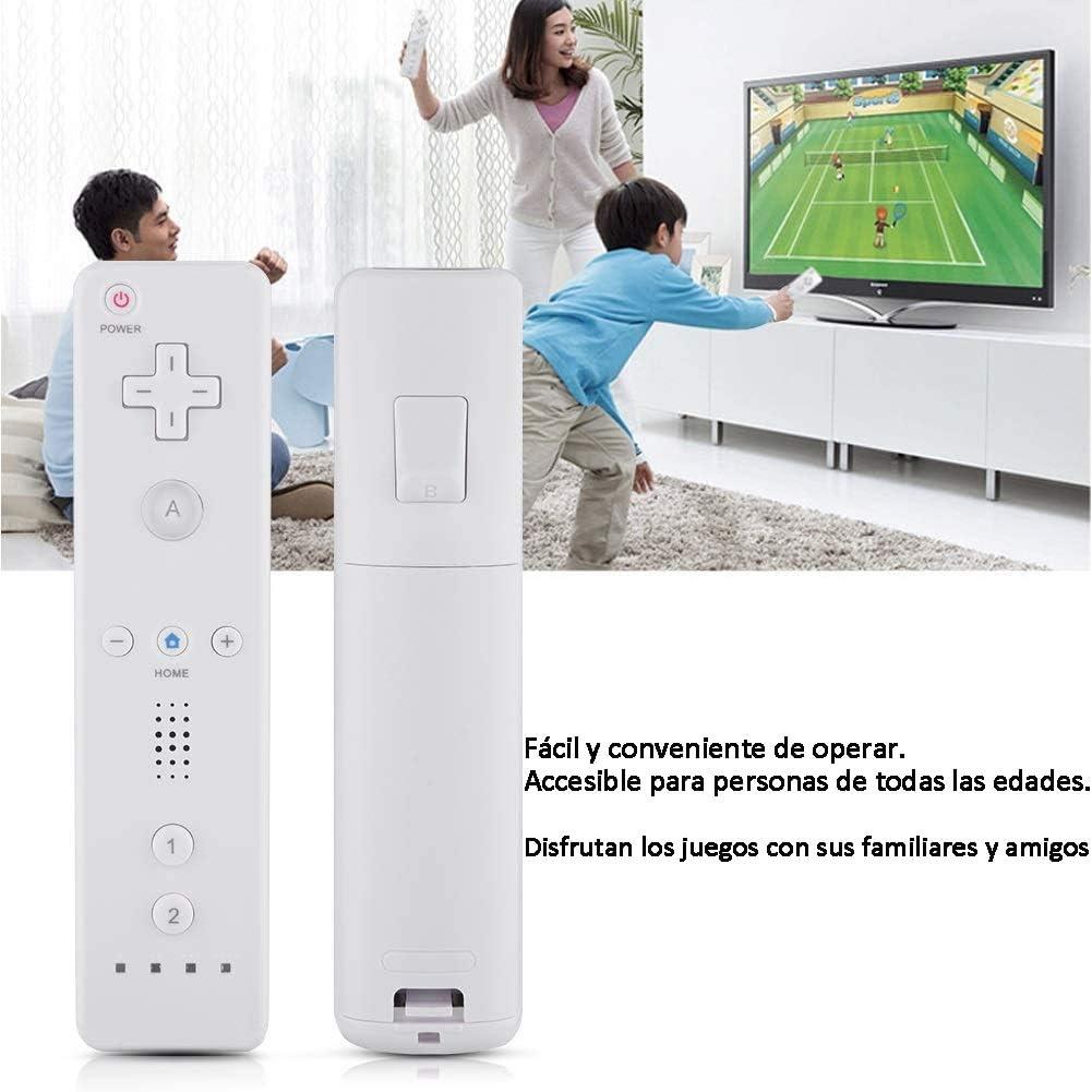 HOTSO Motion Plus Mando a Distancia para Wii/Wii U, Remoto Motion Plus Controlador de Juego para Nintendo Wii y Wii U con Funda de Silicona y Muñequera(Blanco): Amazon.es: Electrónica