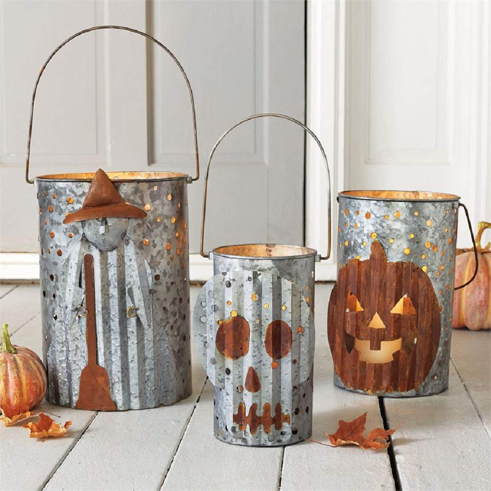 Mud Pie Tin Halloween Candle Luminaries