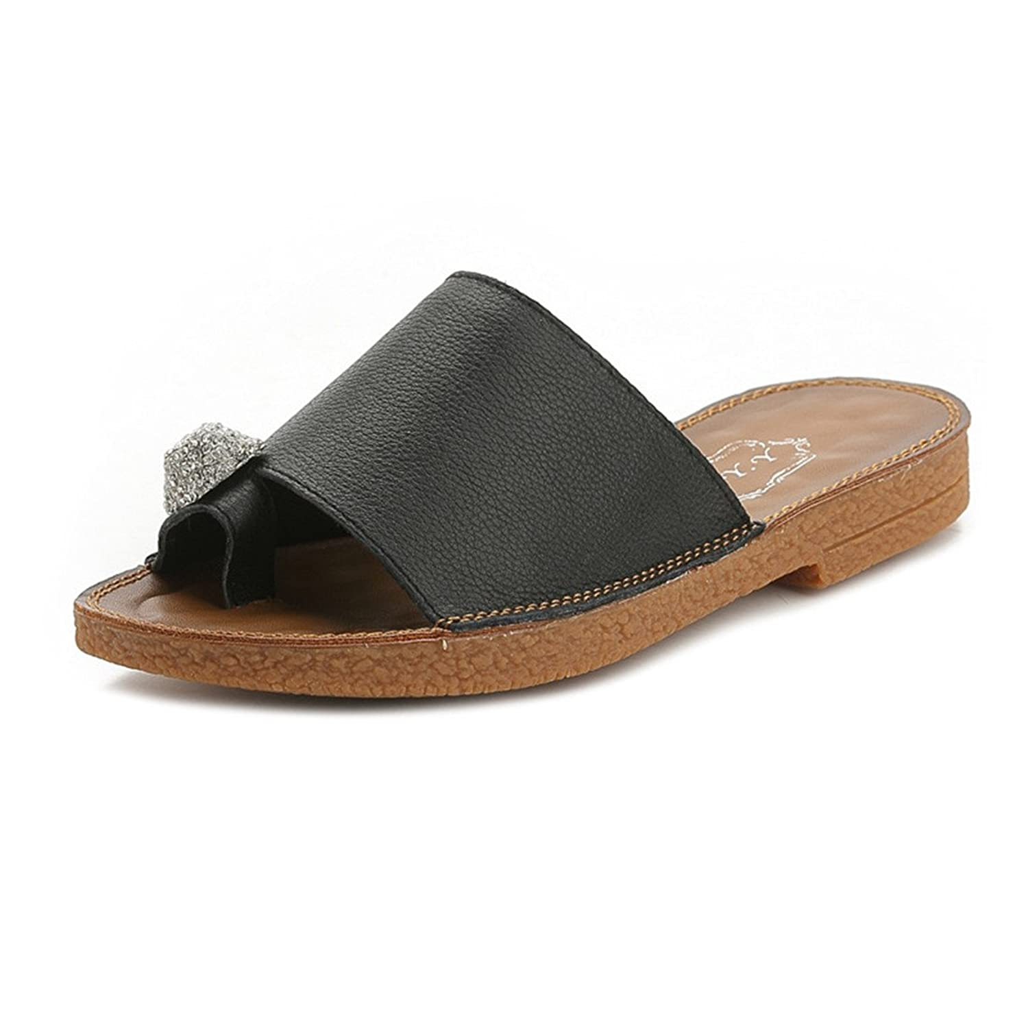 Women's Outdoor Leather Summer Beach Leather Casual Slippers 1587-3