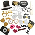 NEW YEARS EVE PHOTO BOOTH PROPS 2018 - 20 Pcs - New Years Eve Party Supplies - New Years Eve Photo Booth Props 2018 - New Years Eve Decorations from KATCHON