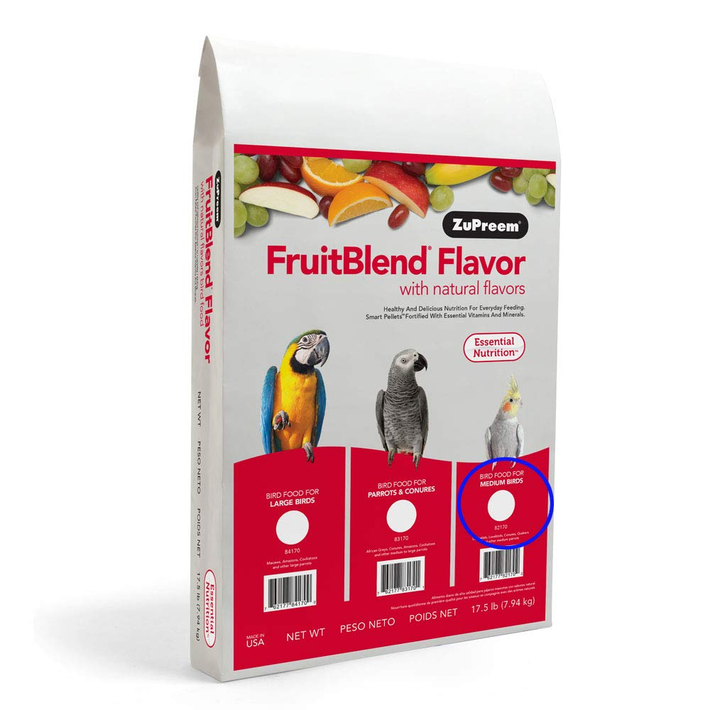FruitBlend With Natural Fruit Flavors for Medium Birds 17.5 lbs by ZuPreem