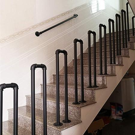 Pasamanos De Escalera Industrial Barandillas,barandillas De Escalera De Hierro En Forma De U Negro,Los Piquetes Barandillas,Moderno Interior De La Cerca Exterior Loft Bar Corredor De Seguridad: Amazon.es: Hogar